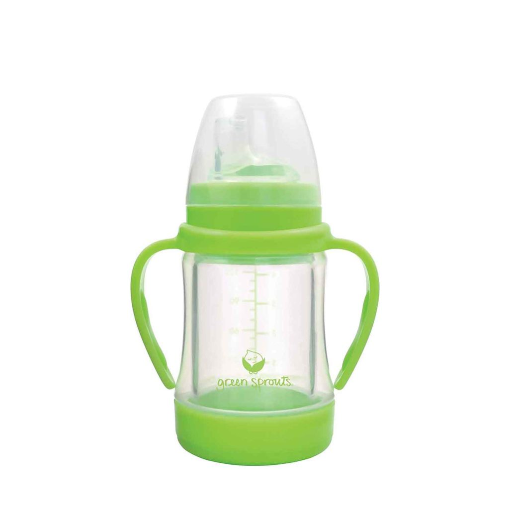 Green Sprouts Glass Sip and Straw Cup