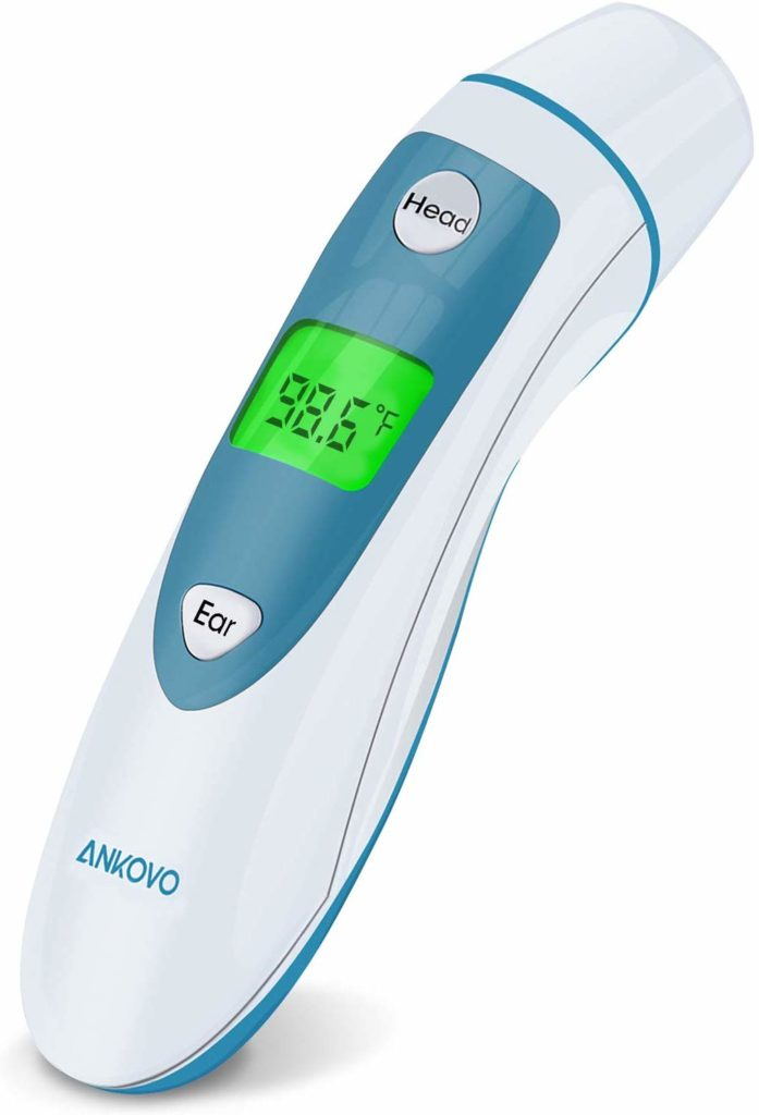 ANKOVO Thermometer for Fever Digital Medical Infrared Forehead and Ear Thermometer