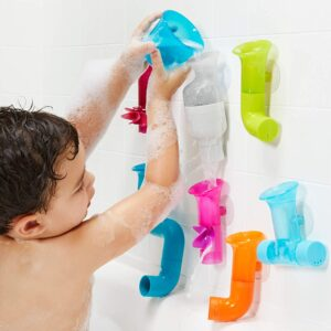 Boon Building Bath Toy Bundle with Pipes, Cogs, and Tubes